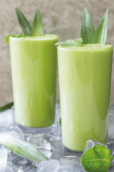 batido verde de kale